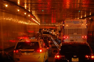 Going through the Holland Tunnel for a day in NYC