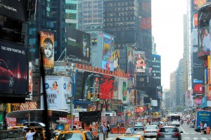 The hustle and bustle of Broadway