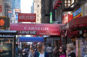 The Corn Beef sandwich was huge and delicious at Carnegie's