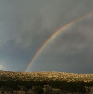 Chihuahuan Desert Rainbow Maybe a Pot of Gold