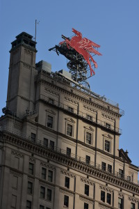 # 2 Flying Red Horse atop the W Hotel formerly the Magnolia Building