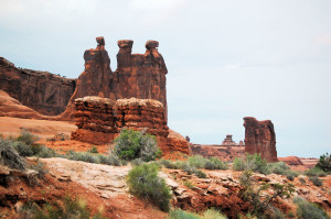 The Three Gossips and Sheep Rock - Arches NP, UT